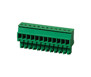 PA66 SN Plated 30-16AWG Terminal Block Connector CPT 3.81mm Pitch 1*10P Green