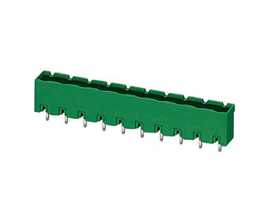 Green Terminal Block Connector Pluggable 1*13P PA66 SN Plated DIP Wafer H15.9mm